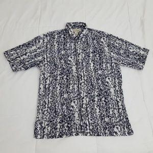 Tori Richard Hawaiian Camp Shirt Mens Medium